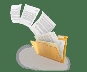папка с листами